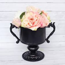 Decorative Urns Vases Decorative Black Urn With Handles Vintage Home Decor Afloral Com