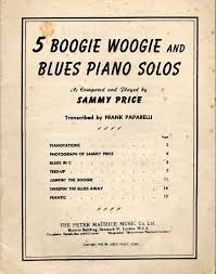 5 boogie woogie and blues piano solos as played by sammy