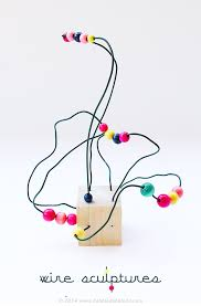 easy art for kids wire sculpture babble dabble do