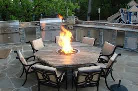 patio table with fire pit best outdoor gas fire pit table and chairs 77 in office chair with