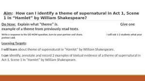 themes for hamlet act 2 ir hamlet act 1 scene 1 theme of supernatural lesson ppt by renner