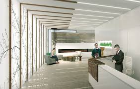 modern lobby new rendering reveals vibrant and modern lobby at on the danforth