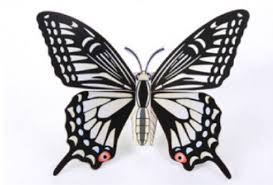 butterfly paper model free template