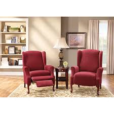 sure fit chair slipcover sure fit stretch pique 2 pc wing recliner slipcover jcpenney