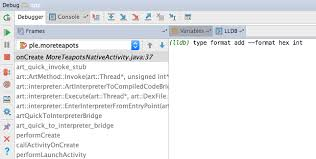 debugging android use the experimental java aware c debugger android studio