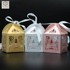 eiffel tower favors 50pcs eiffel tower wedding box pairs tower candy box wedding