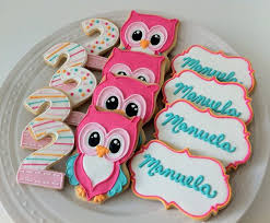 Colorful Owl Decorated Sugar Cookies in perfect candy colors by