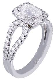 emerald cut diamond engagement rings white gold emerald cut diamond engagement ring halo deco 1 70ct h