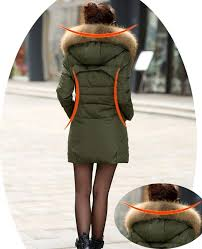 Plus Size Down Coats Plus Size Down Jacket Women Winter Coats Fur Hooded Slim Long Duck