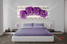 mural violets of musical wall notes photo mural violets of musical wall notes