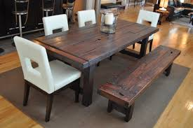 farmhouse table and chairs with bench most house wall and rustic dining bench treenovation hafoti org