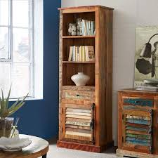 shelves bookcases reclaimed wood and metal industrial top