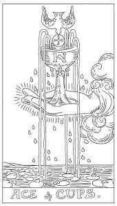 the tarot card coloring book book by g c carter