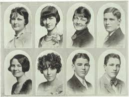 hs yearbooks hairdos 1928 grant h s yearbook cedar rapids ia class of