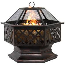 bestchoiceproducts rakuten bcp hex shaped fire pit outdoor home