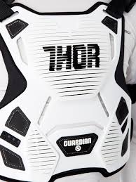 thor white 2017 guardian mx chest protector thor