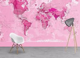 Map Wallpaper Pink World Map Wallpaper