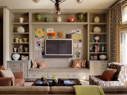 Suzie Jeffers Design Group Fun Family Room With Builtin Media - Fun family room