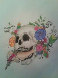 skull rose tattoo design by jay way on deviantart