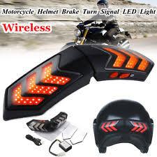 stop sign with led lights led helmet ebay
