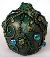 Polymer Clay Vases Polymer Clay Green Vine Vase By Mandarinmoon On Deviantart