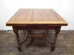 table with slide out leaves oak pull out dining table antiques atlas