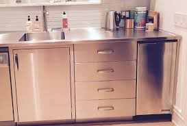 kitchen sink base cabinet and countertop customizable stainless steel residential cabinets
