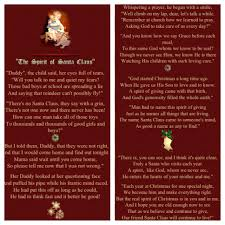 the spirit of santa claus poem the spirit of christmas