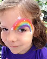 all kinds of theme based face paintings are available at party