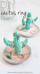 shabby chic cactus ring holder images How to make polymer clay jewelry dish tutorials the beading jpg