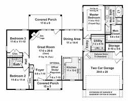 Ranch House Floor Plans With Basement Ranch Style House Plan 3 Beds 2 00 Baths 1700 Sq Ft Plan 21 144