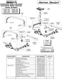 kitchen sink faucet parts diagram plumbingwarehouse com standard repair parts for model