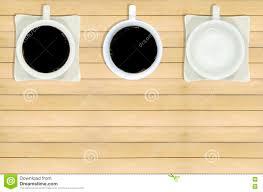 coffee mugs on the wooden floor stock photo image 80545259