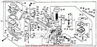 honda cb450sc nighthawk 1982 c usa carburetor schematic partsfiche