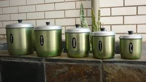 ebay kitchen canisters set of 5 australian green anodised kitchen canisters model