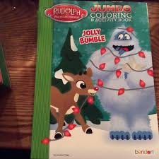 rudolph red nosed reindeer bumble christmas jumbo coloring