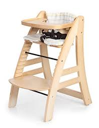 amazon com sepnine height adjustable wooden highchair baby high