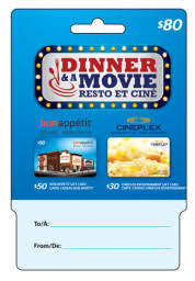 dinner and a gift card glow contest to win cineplex dinner and gift card