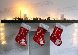 personalised christmas stocking custom printed with your name and