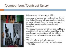 Example Comparison And Contrast Essay Composition 9 The Writing Process Ppt Download
