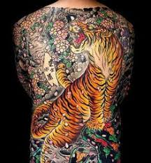 mens angry tiger japanese back design ideas back