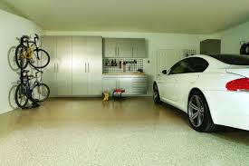 garage design ideas with cabinet and hanger compartment for the garage design ideas decorated with contemporary style using silver garage storage design and concrete flooring decoration