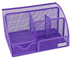 Purple Desk Organizers Easypag Mesh Desk Organizer Office Accessories Caddy