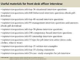 Front Desk Officer Top 10 Front Desk Officer Questions And Answers