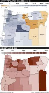 Oregon County Map With Cities by Oregon U0027s 2010 Census Shows Striking Latino And Asian Gains