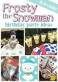 frosty snowman birthday party free printables