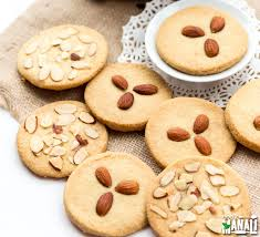 Indian Style - almond cookies cook with manali