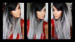 black grey hair grey hair protective style by uniwigs youtube