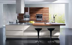 induction hob extractor hood wooden countertops modern chrome