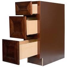 cherry mahogany kitchen cabinets everyday cabinets 18 inch cherry mahogany brown leo saddle 3 drawer
